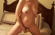 Sorry for the blur, it's a Video 'still' Also open to any tips on taking selfies with cell phones :) Hubby wanted me to get nasty, well I got really t