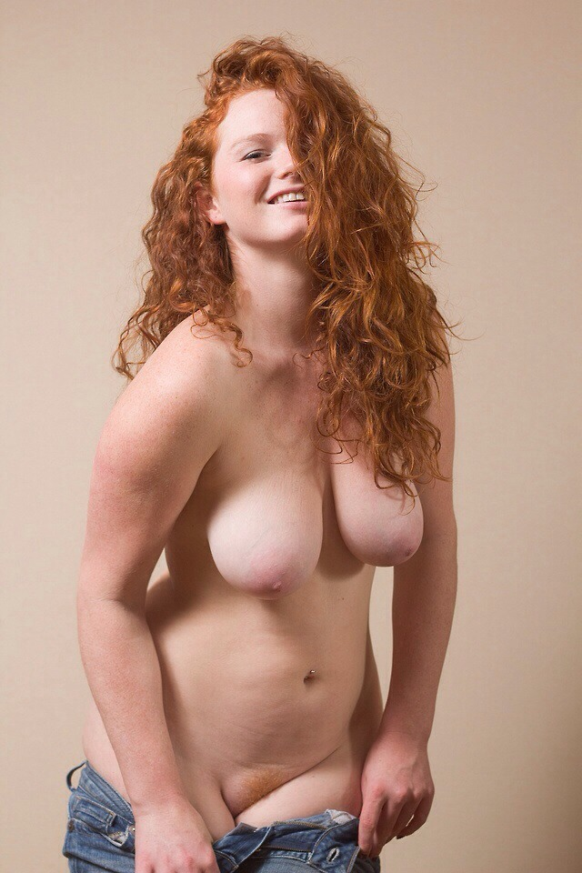 Curvy ginger with big ass and tits
