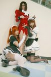 amateur photo A mistress and her maids