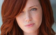 Freckles, hair, and eyes. The fundamentals for a beautiful redhead!
