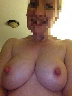 amateur photo Veins and hard nipples