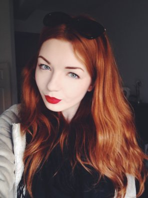 amateur photo Pale, blue eyes and fiery hair
