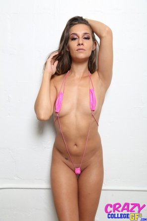 amateur photo Tiny pink bikini
