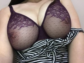 amateur photo Because who doesn't love a bra you can see through?