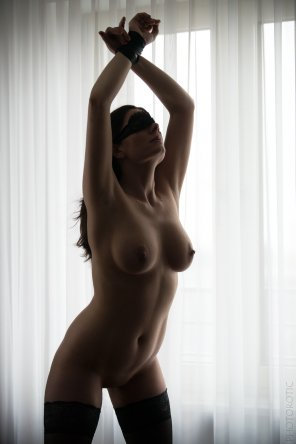 amateur photo Blindfolded and tied