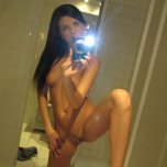 amateur photo Posing for the mirror