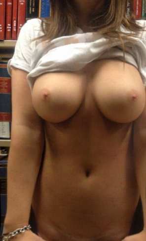 amateur photo Well Endowed Library Patron