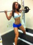 amateur photo Building her body
