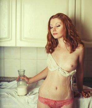 amateur photo Milk malfunction.