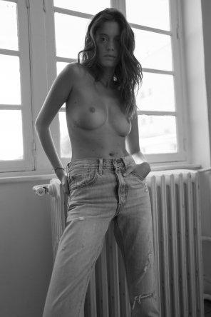 amateur photo Comfy jeans