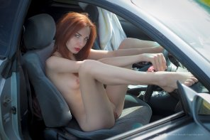 amateur photo Driver girl