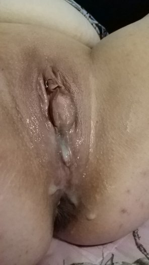 amateur photo The wife... Cream filled