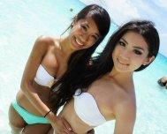white bikini tops