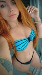 amateur photo Bikini and Blue Eyes