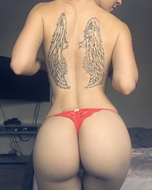 amateur photo angel tattoo