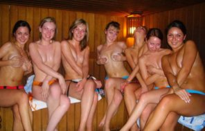 amateur photo In the Sauna