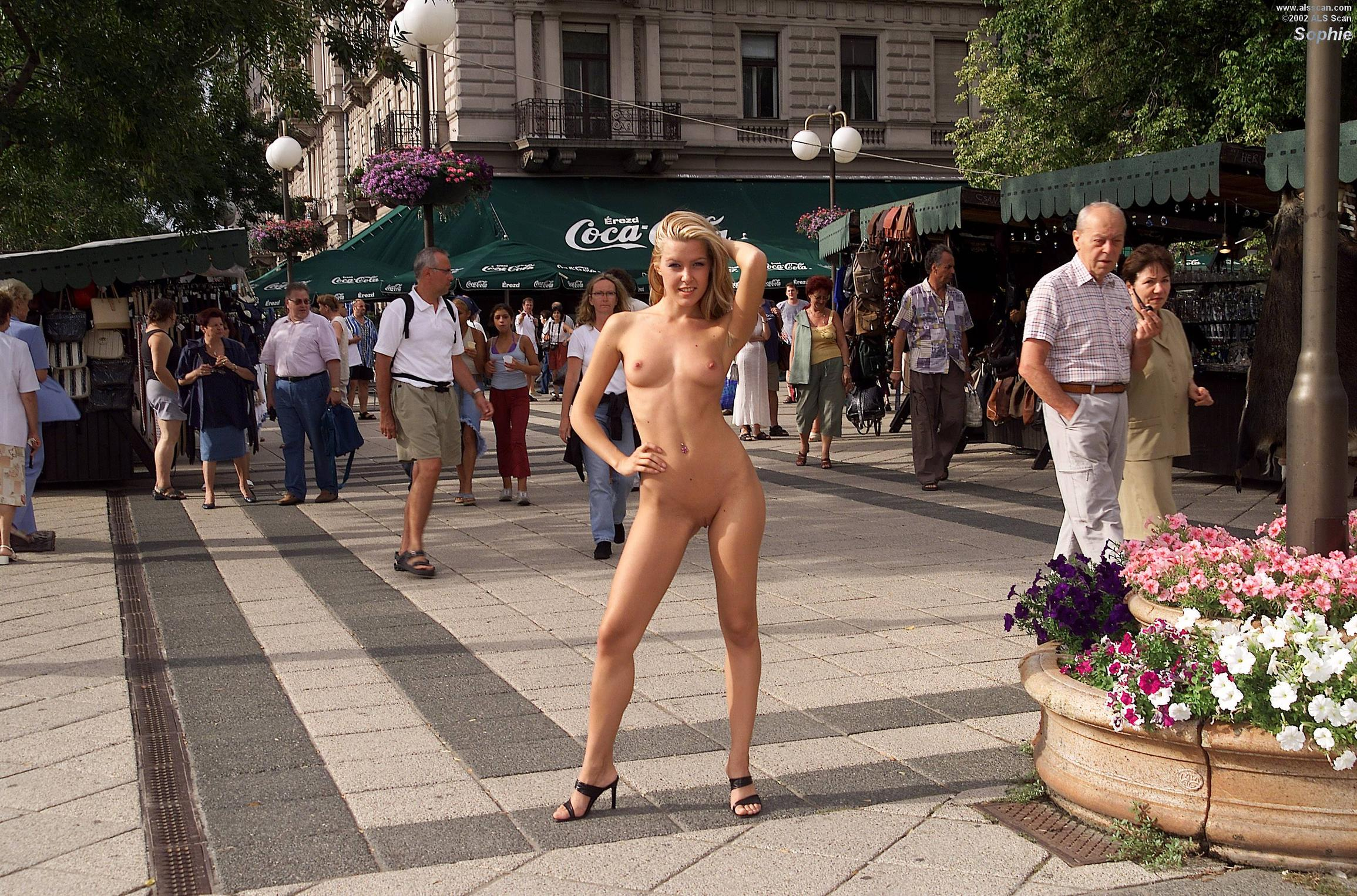 Naked people in the street