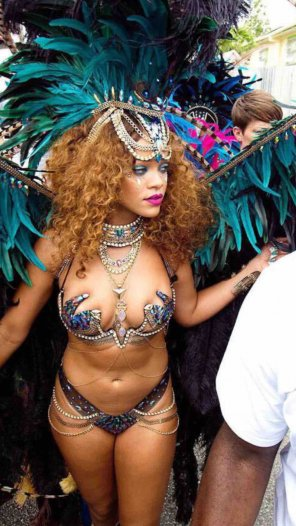 amateur photo Rihanna at Carnival in Barbados