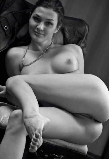 In black and white Porn Photo