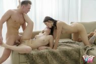 "Lovenia Lux, Carolin in ""Lad Cums On Two Babes"""