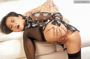 amateur photo Garters and stockings