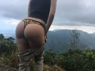 showing my ass at the Kilohana lookout [f]