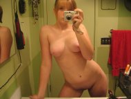 Young, smooth, fully nude selfie - Let your imagination run wild