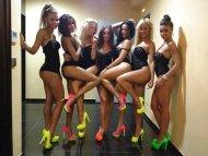 Full of neon heels