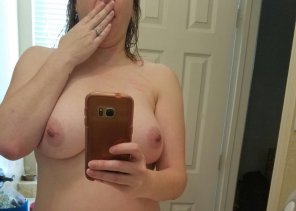 "amateur photo IMAGE[Image] OOpsie! Wife ""Accidentally"" sharing her 36DD's while I was away."