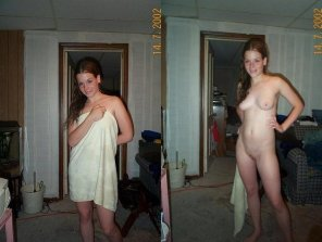 amateur photo Lose the towel