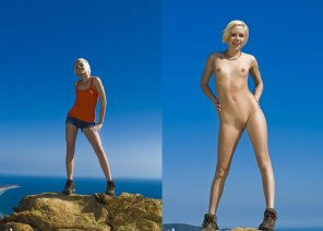 amateur photo Nude trekking