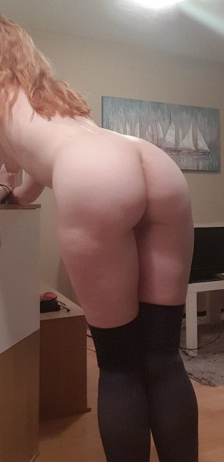 Just a redhead showing off her booty! ;3 Porn Photo