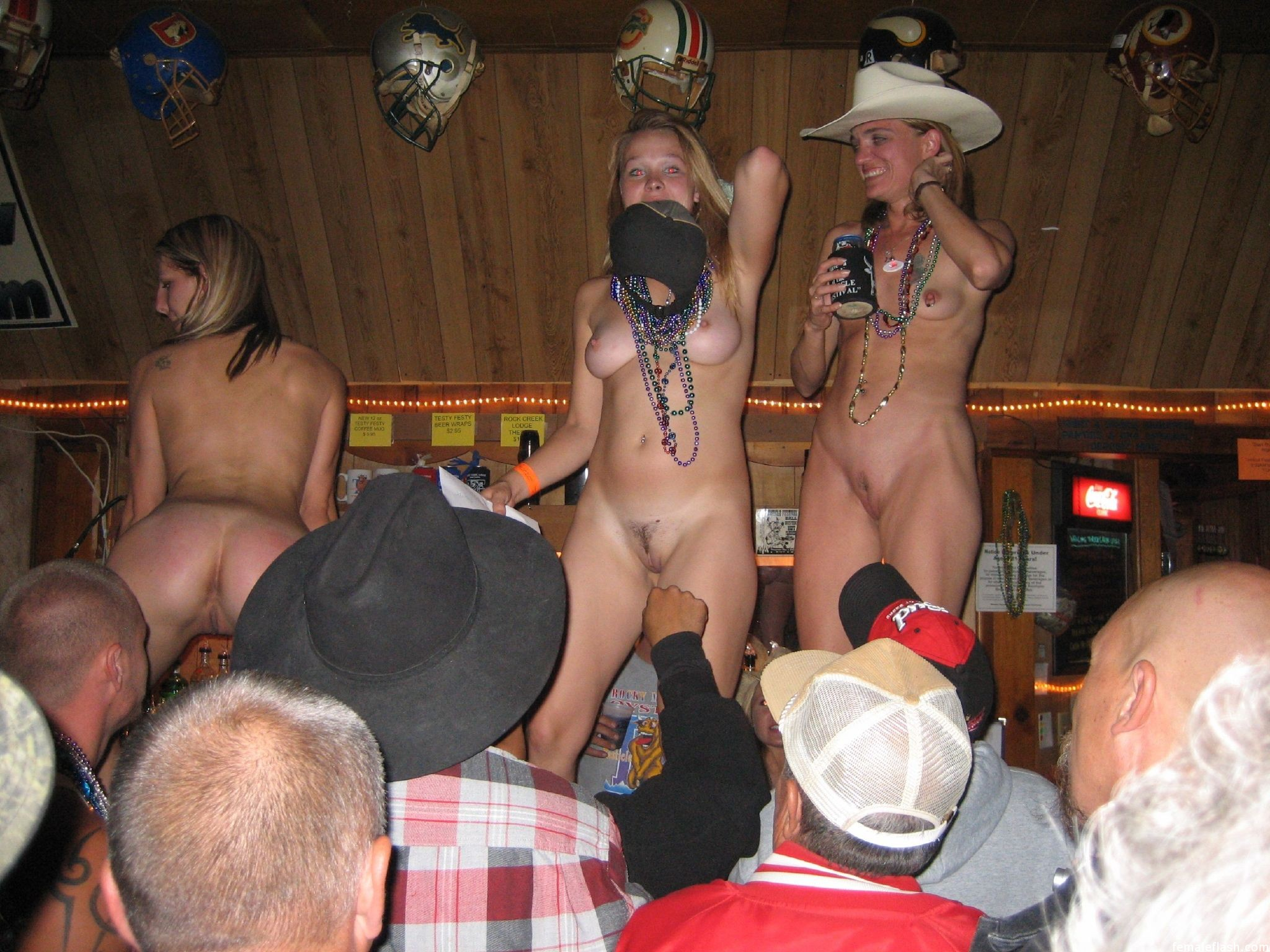 Naked girls on stage phrase