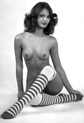 amateur photo vintage striped socks