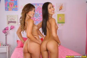 amateur photo Melanie Rios and Amia Miley