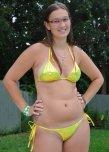 amateur photo Yellow Bikini