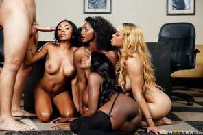 amateur photo Anya Ivy, Diamond Jackson, Jade Aspen & Jasmine Webb