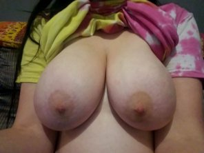 amateur photo [Image] Did you really think I'd forget about titty Tuesday?