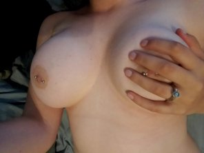amateur photo [Image] Rainy day blues. Here are my boobs.