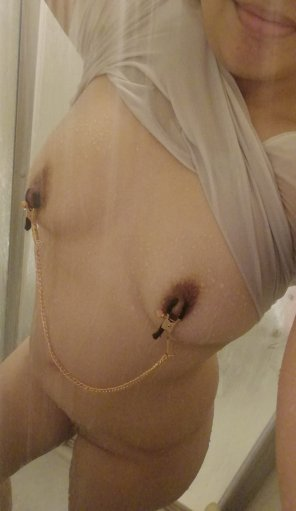 amateur photo Original ContentSomeone requested to see my clamps without the shirt. Here you go. [F]