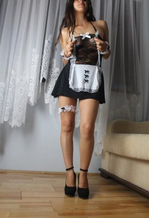 amateur photo French maid outfit!