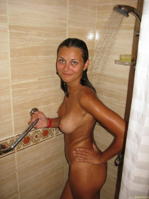 Taking a shower Porn Photo