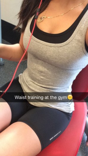 amateur photo Working hard in the gym to make guys hard at the beach