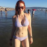 amateur photo Redhead at the beach