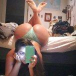 amateur photo Panties match the phone