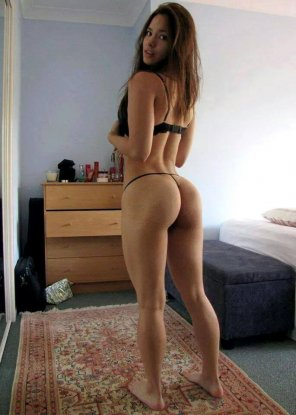 amateur photo Showing off what she worked for