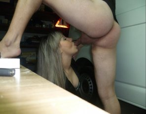 amateur photo On her knees sucking cock