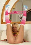 amateur photo Pink Panties 'round her ankles