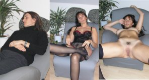 amateur photo Brunette - from here to there - from well behaved to very horny