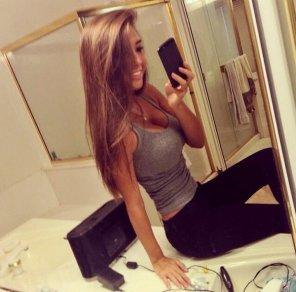 amateur photo This brunette